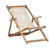 Beukenhouten ligstoel beige (Bibione Twistsand Classico)_