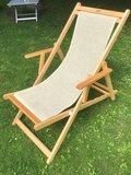 Bibione Twistsand Classico (beukenhouten ligstoel lijnzaadolie)_