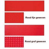Aluminium ligbed met zonneklep en rode bekleding (Rosso)_