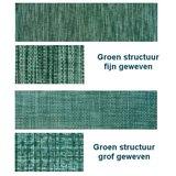 Aluminium ligbed met zonneklep en groene structuur bekleding (Seeweed)_