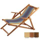 houten ligstoel blauw-geel