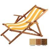 houten ligstoel geel wit