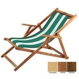 houten ligstoel groen-wit