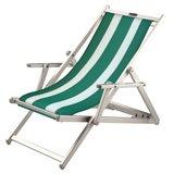 aluminium ligstoel groen-wit