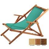 houten ligstoel groen grof