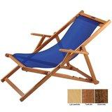 houten ligstoel donkerblauw grof