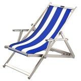 aluminium ligstoel blauw wit pool blue