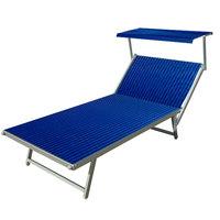 Aluminium ligbed VIP met blauwe bekleding (Royal Blue)