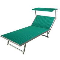Aluminium ligbed VIP met groene bekleding (Verde)