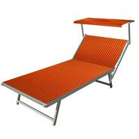 Aluminium ligbed VIP met oranje/rode bekleding (Gitano)