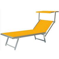 Aluminium ligbed met zonneklep en amber bekleding (Ambra)