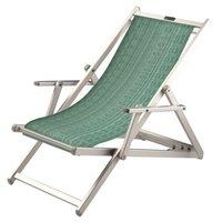 Aluminium ligstoel met groene structuur bekleding (Seeweed)