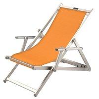 Aluminium ligstoel met amber bekleding (Ambra)