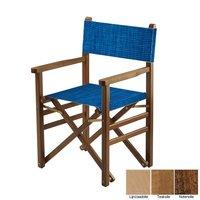Beukenhouten regisseursstoel - blauw structuur (Regista Electric Blue Classico)