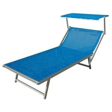 Aluminium ligbed VIP met blauwe bekleding met structuur (Electric Blue)
