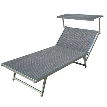 Aluminium ligbed VIP met grijze bekleding (Mercury)