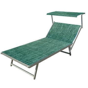 Aluminium ligbed VIP met groene structuur bekleding (Seeweed)