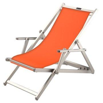 Aluminium ligstoel met oranje bekleding (Arancione)