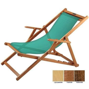 Beukenhouten ligstoel groen (Bibione Verde Classico)