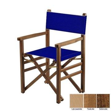 Beukenhouten regisseursstoel - blauw (Regista Royal Blue Classico)