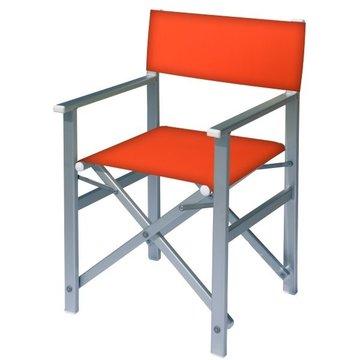 Aluminium regisseursstoel met oranje bekleding (Regista Arancione)