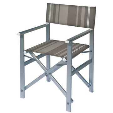 Aluminium regisseursstoel met oranje bekleding (Regista Desert Line)