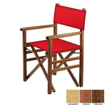Beukenhouten regisseursstoel - rood (Regista Rosso Classico)