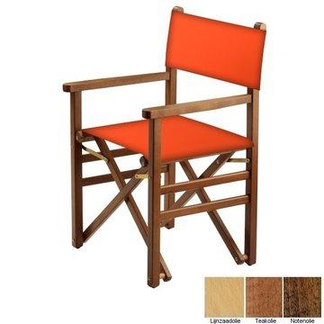Beukenhouten regisseursstoel - oranje (Regista Arancione Classico)