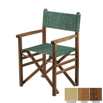 Beukenhouten regisseursstoel - groen structuur (Regista Seeweed Classico)