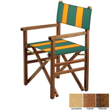 Beukenhouten regisseursstoel - groen met amber banen (Regista Avocado Classico)
