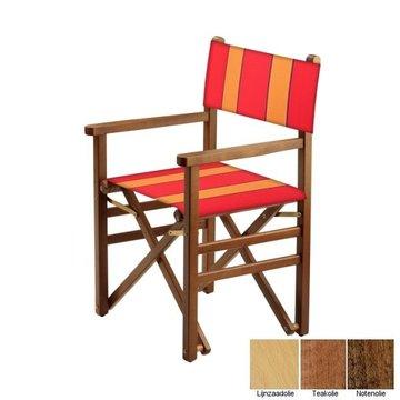 Beukenhouten regisseursstoel - rood met amber banen (Regista Anthias Classico)