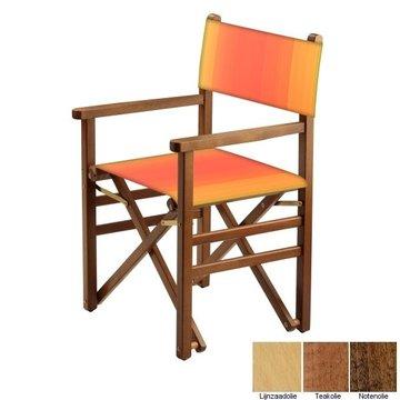 Beukenhouten regisseursstoel - rood naar amber overlopend (Regista Fire Classico)