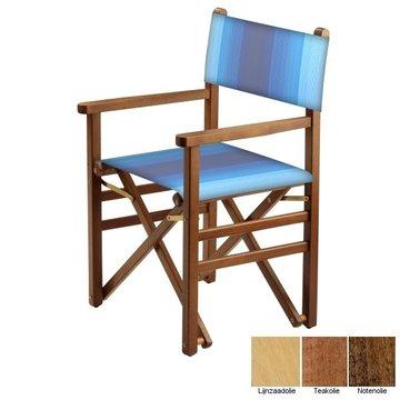 Beukenhouten regisseursstoel - blauw naar wit overlopend (Regista Lithodora Classico)
