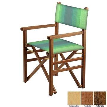 Beukenhouten regisseursstoel - groen naar wit overlopend (Regista Bright Green Classico)