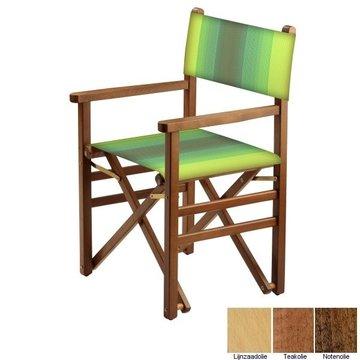 Beukenhouten regisseursstoel - groen naar amber overlopend (Regista Golden Green Classico)