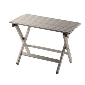 Aluminium bijzettafel - 51x38 cm