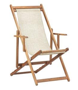 Beukenhouten ligstoel beige (Bibione Twistsand Classico)