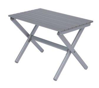 Aluminium bijzettafel - 71x38x49 (h) cm