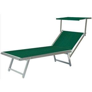 Aluminium ligbed met zonneklep en groene bekleding (Verde)