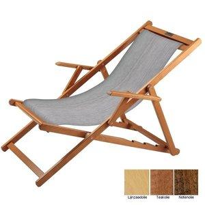 houten ligstoel grijs