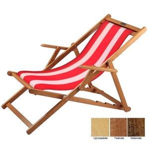 houten ligstoel rood-wit