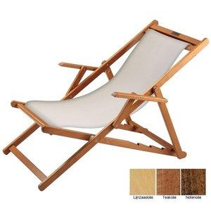 houten ligstoel wit