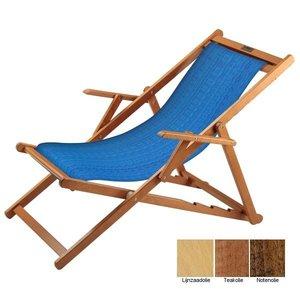 houten ligstoel blauw structuur