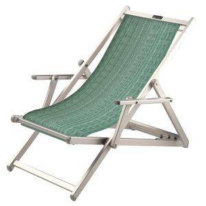 aluminium ligstoel groen structuur