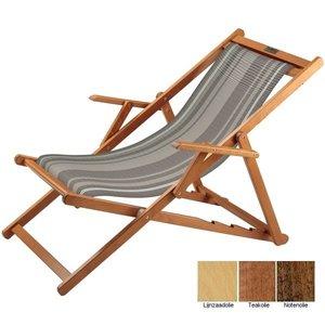 houten ligstoel grijs witte lijnen