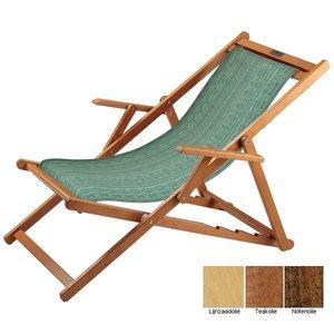 houten ligstoel groen structuur