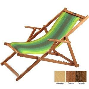 houten ligstoel groen geel overlopend