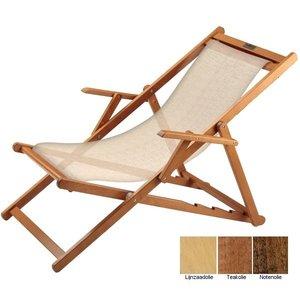 houten ligstoel beige structuur grof