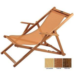 houten ligstoel amber grof