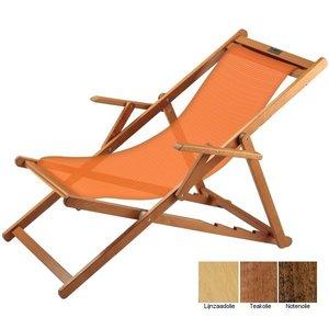 houten ligstoel oranje grof